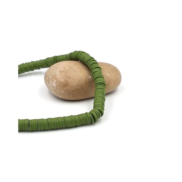 380 Perles Heishi 6mm Couleur Vert Olive - Photo n°1
