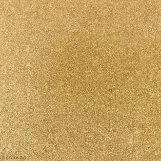 Feuille thermocollante Jaune dorée pailletée - 15 x 18,5 cm