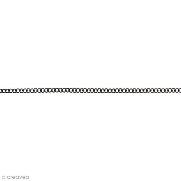 Chaîne Noire à maillons - 2,3 mm x 1 m - Photo n°1