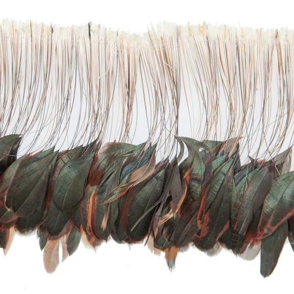 Plumes fouet queue de coq demi bronze - Enfilées 20 cm - Photo n°1