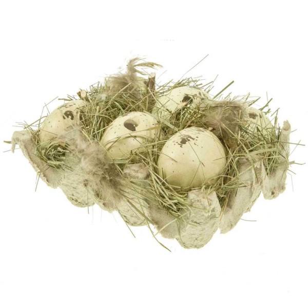 Boite à oeufs déco à la façon nid d'oiseau. - Photo n°3