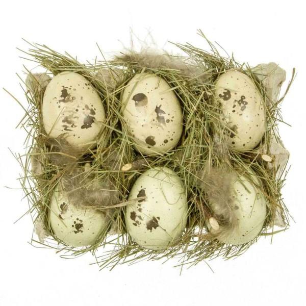 Boite à oeufs déco à la façon nid d'oiseau. - Photo n°1