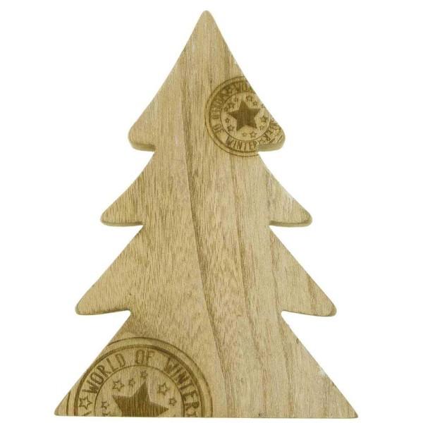 Sapin de Noël en bois estampillé - Photo n°1