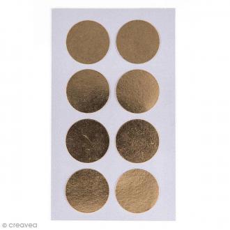 Stickers Pois dorés 25 mm - 32 pcs