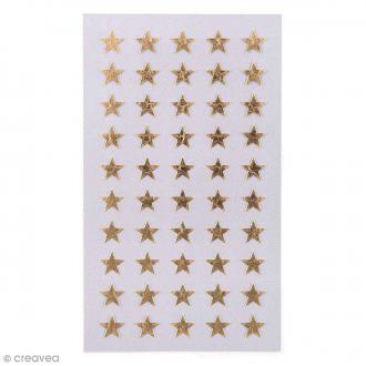 Stickers Etoiles dorées 10 mm - 200 pcs