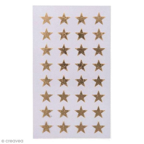 Stickers Etoiles dorées 13 mm - 128 pcs - Photo n°1