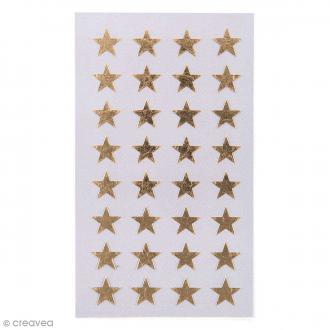 Stickers Etoiles dorées 13 mm - 128 pcs