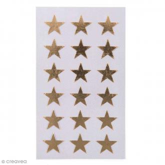 Stickers Etoiles dorées 18 mm - 72 pcs