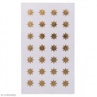Stickers Etoiles dorées 12 mm - 112 pcs