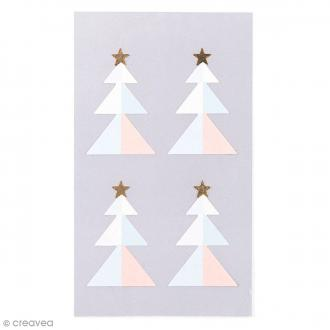 Stickers Sapins Pastel 32 x 42 mm - 16 pcs