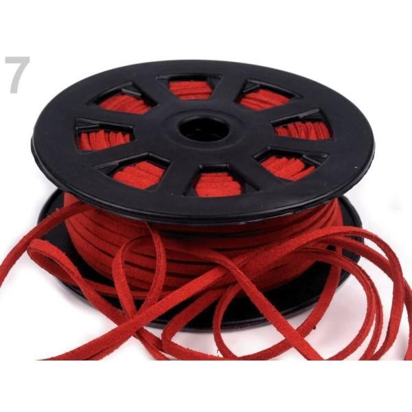 30m 7 Rouge Plat Imitation Cuir Cordon Largeur 3mm, Cordes Matériel, des Perles - Photo n°1