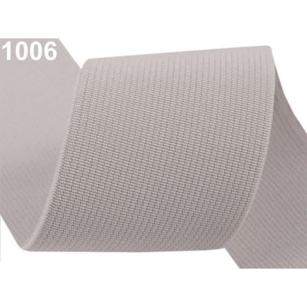 25m 1006 Agate Gris Tissé de Couleur bandes Élastiques, Largeur 50mm, Tricot, Mercerie, - Photo n°1