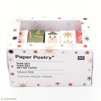 Assortiment Masking Tape Puristic Christmas Saint Nicolas - 1,5 cm x 10 m - 5 pcs