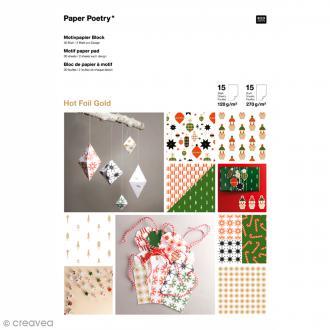 Bloc papier scrap à motif - Puristic Christmas - A4 - 30 feuilles