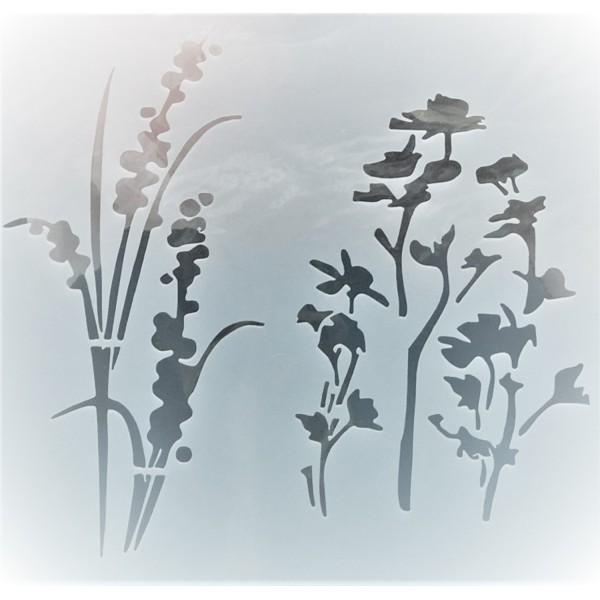 POCHOIR PLASTIQUE 13*13cm : Fleurs (21) - Photo n°1