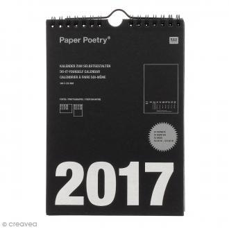 Calendrier 2017 Noir à décorer - A5 (14,8 x 21 cm)