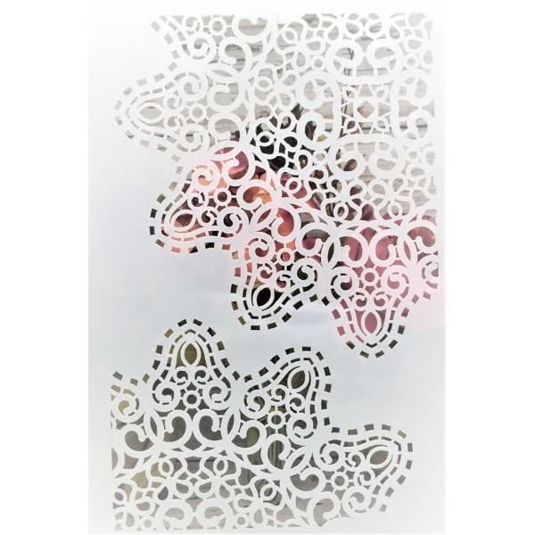 POCHOIR PLASTIQUE 30*21cm : motif oriental (01) - Photo n°1