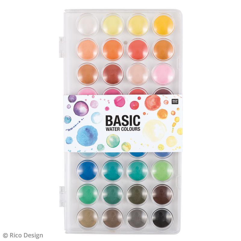Palette de peinture l 39 eau couleurs intenses 36 for Peinture palette de couleur