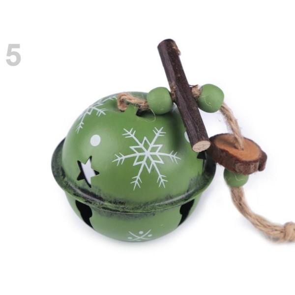 1pc 5green de Noël Jingle Bells Vintage Ø65mm, Fête de Noël, Cadeau de Noël, Art des Vacances, de l' - Photo n°1