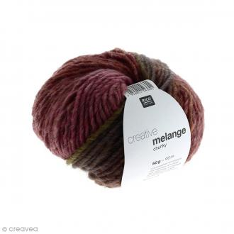 Laine Rico Design - Creative Mélange Chunky - Rose-brun - 50 g