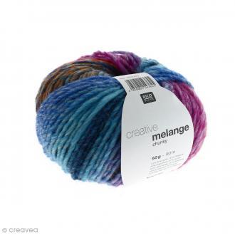 Laine Rico Design - Creative Mélange Chunky - Turquoise-magenta - 50 g