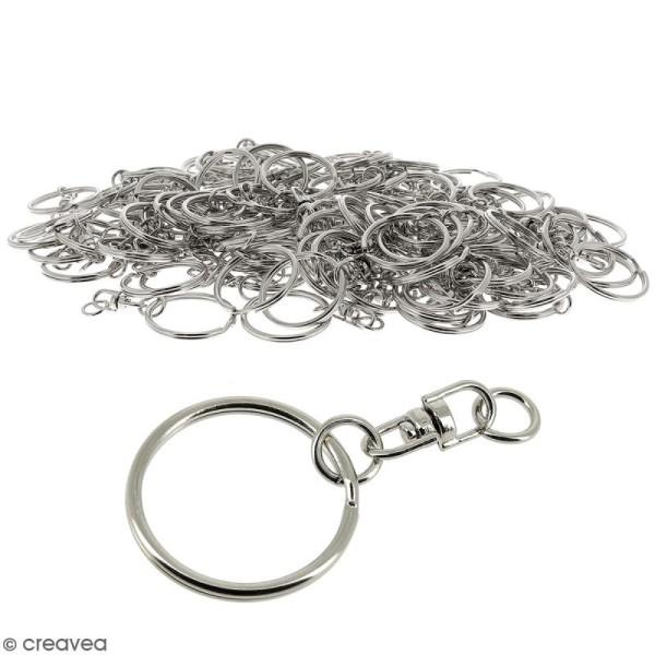 Anneaux de porte clés avec chaînette - 100 pcs - Photo n°1