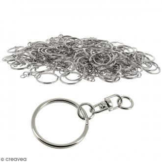 Anneaux de porte clés avec chaînette - 100 pcs