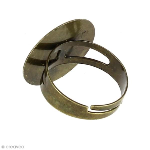 Bague plateau plat - Rond - Bronze - 20 mm - Avec packaging - 1 pce - Photo n°2