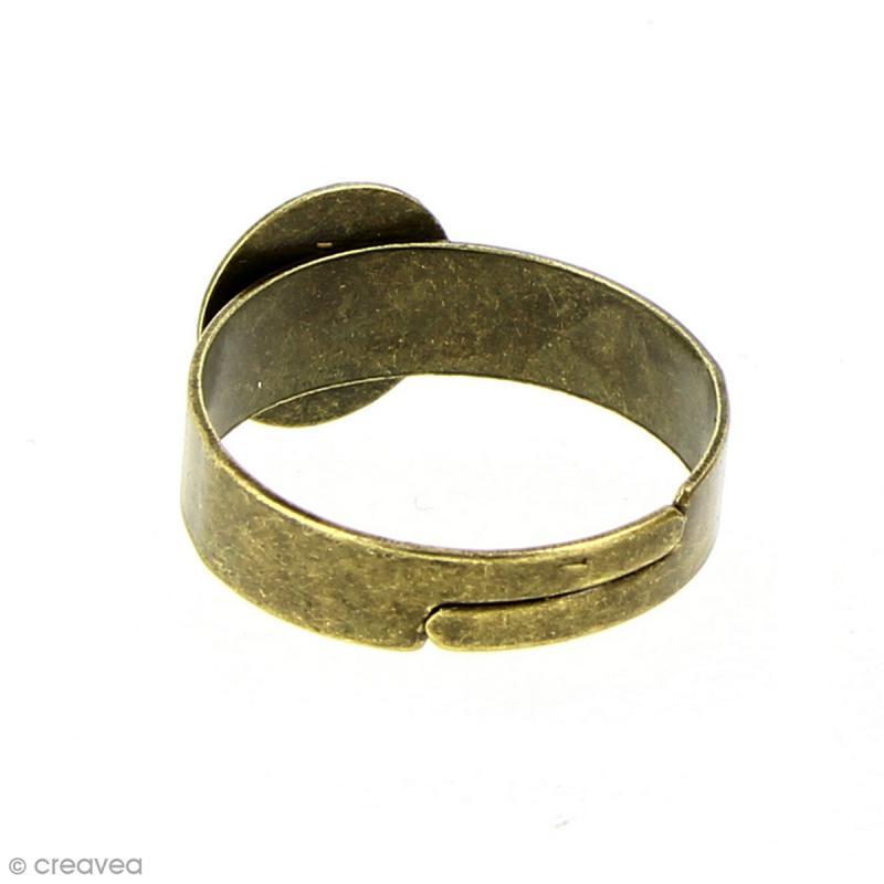 Bague plateau plat - Rond - Bronze - 10 mm - Avec packaging - 10 pcs - Photo n°3