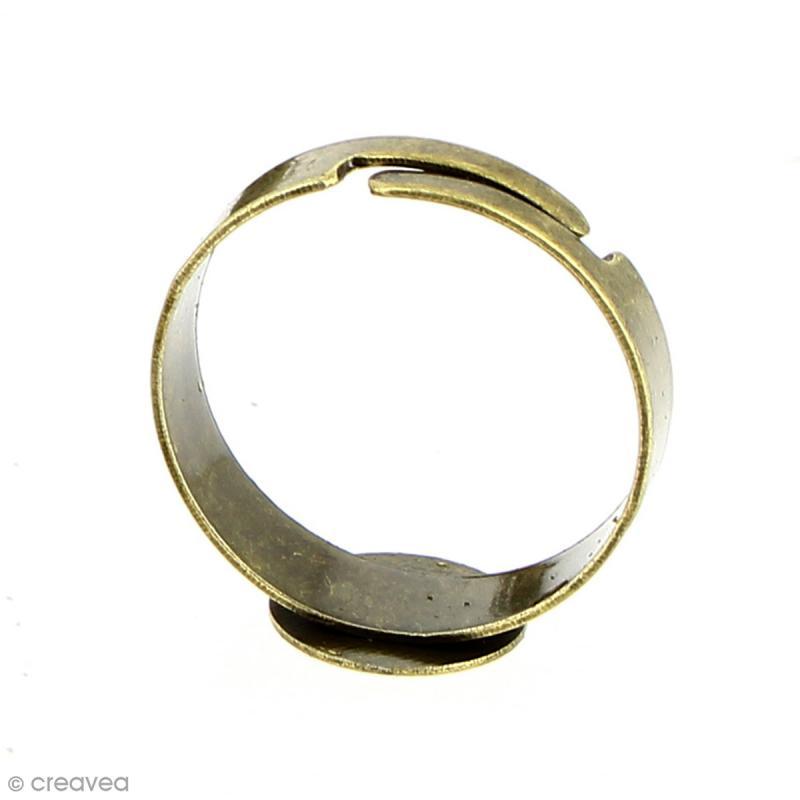 Bague plateau plat - Rond - Bronze - 10 mm - Avec packaging - 10 pcs - Photo n°4