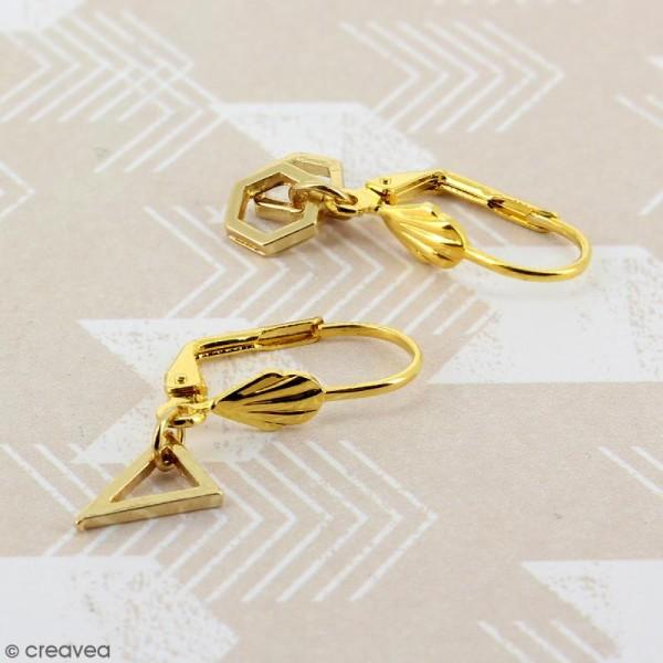 Boucles d'oreilles dormeuses - Coquillage - Bronze - 18 mm - 10 pcs - Photo n°2
