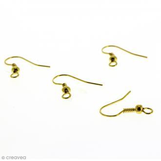 Crochets d'oreilles avec anneau - Doré - 18 mm - 4 pcs