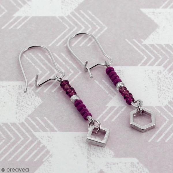 Crochets d'oreilles - Argenté - 18 mm - 10 pcs - Photo n°2