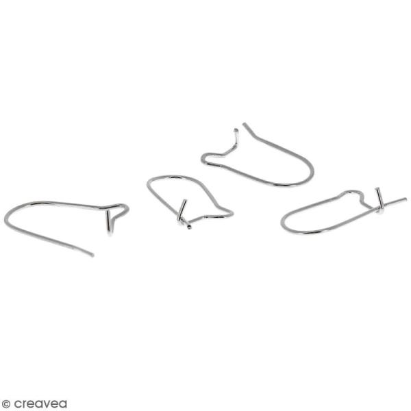 Crochets d'oreilles - Argenté - 18 mm - 10 pcs - Photo n°4