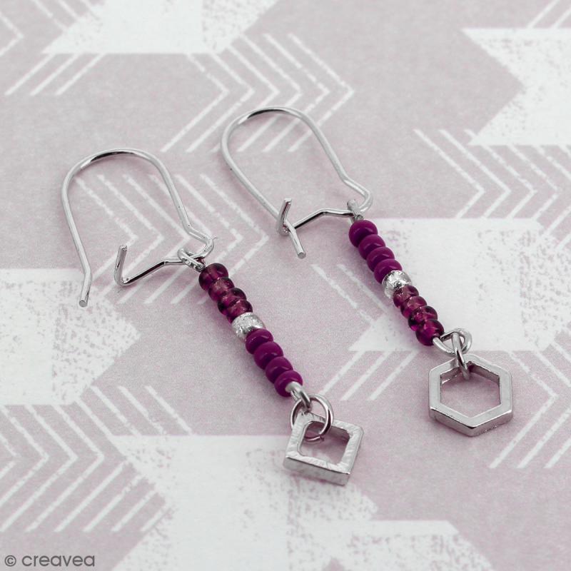 Crochets d'oreilles - Argenté - 18 mm - 50 pcs - Photo n°2
