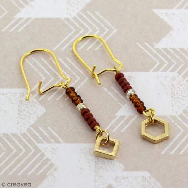 Crochets d'oreilles - Doré - 18 mm - 50 pcs - Photo n°2