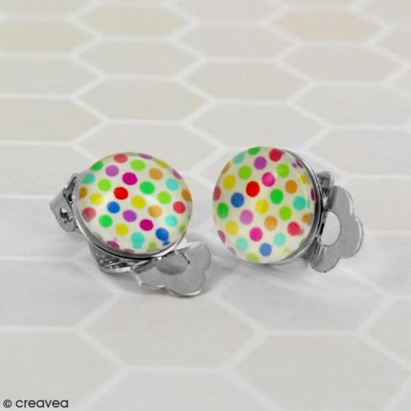 Boucles d'oreilles à clip - Argenté - 12 mm - 50 pcs - Photo n°2