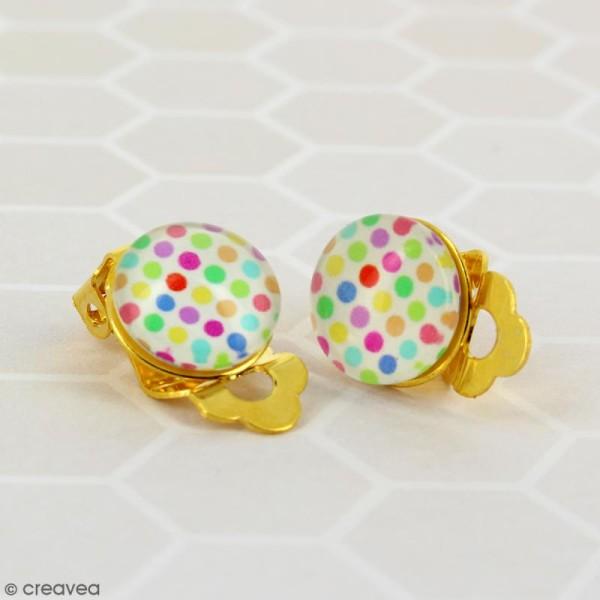 Boucles d'oreilles à clip - Doré - 22 mm - 10 pcs - Photo n°2