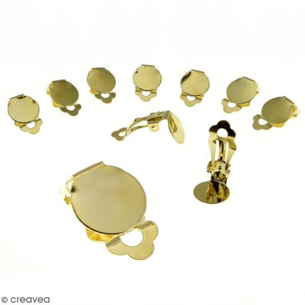Boucles d'oreilles à clip - Doré - 22 mm - 10 pcs - Photo n°1