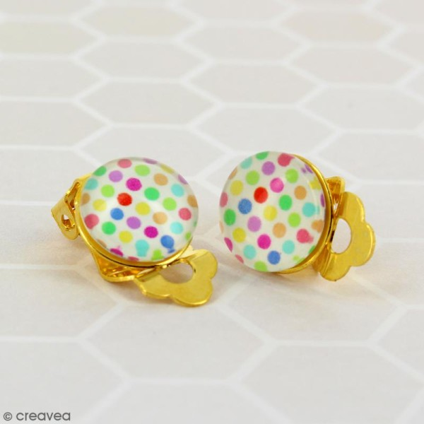 Boucles d'oreilles à clip - Doré - 22 mm - 50 pcs - Photo n°2