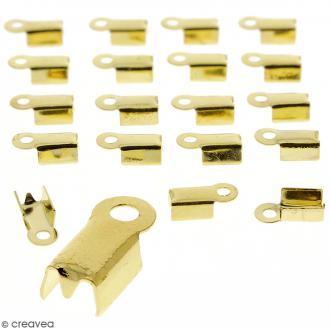 Embouts pince-lacets - 4 mm - Doré - 20 pcs