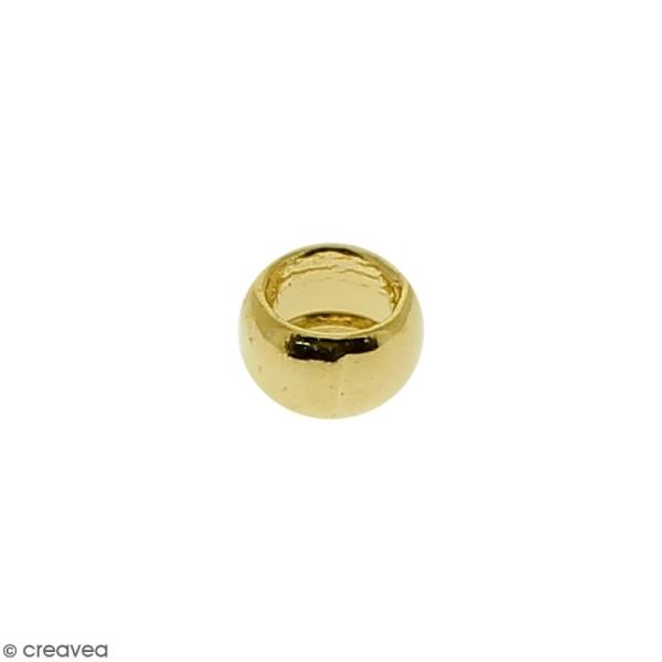 Perles à écraser - Doré - 2 mm - 50 pcs - Photo n°2