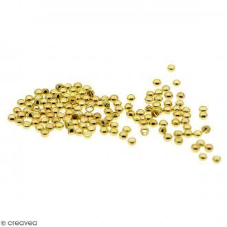 Perles à écraser - Fer Doré - 2 mm - 100 pcs