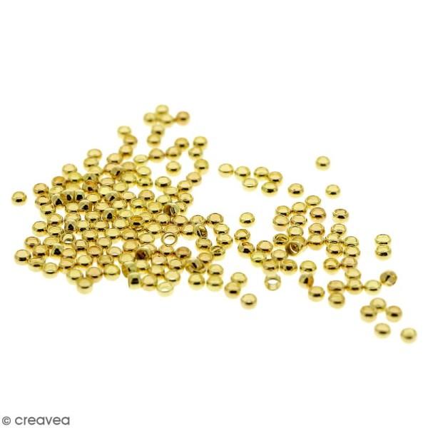 Perles à écraser - Fer Doré - 2 mm - 200 pcs - Photo n°1