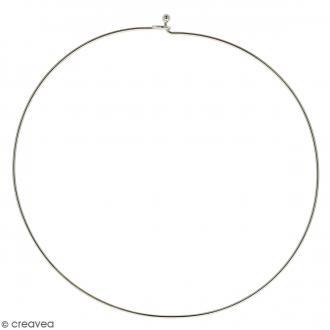 Collier tour de cou rigide - Argenté - 14 cm - 1 pce
