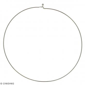 Collier tour de cou rigide - Argenté - 14 cm - 1 pce - Avec packaging