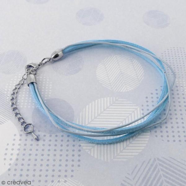 Fermoir embout cloche avec chainette - Pour cordon 8 mm - Argenté - 2 pcs - Photo n°3