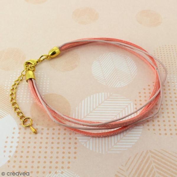 Fermoir embout cloche avec chainette pour cordon 5 mm - Doré - 2 pcs - Photo n°2