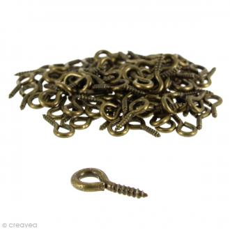 Crochets piton à visser - Bronze - 10 mm - 100 pcs