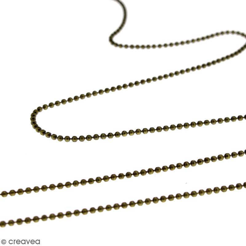 Chaîne maillons boule - Bronze - Au mètre (sur mesure) - Photo n°4